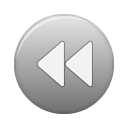 button, grey, rew Gray icon