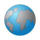 planet, world, globe, earth SteelBlue icon