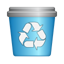 recycle, Bin SteelBlue icon