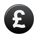 Cash, pound, Money, coin, Black, Currency DarkSlateGray icon
