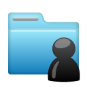 Folder, Account, user, Human, people, profile SkyBlue icon