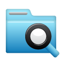 Find, Folder, search, seek SkyBlue icon