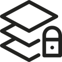 padlock, Layer, interface, Graphic Tool, graphic design, Graphics Editor Black icon