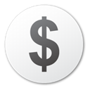 Dollar, coin, Money, Cash, Currency WhiteSmoke icon