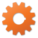 red, Gear Chocolate icon