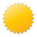 yellow, Label Gold icon