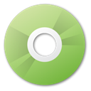 green, disc, Disk, Cd, save YellowGreen icon
