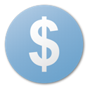 usd, coin, Dollar, Money, Currency, Blue, Cash SkyBlue icon