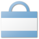 Blue, shopping, Cart, Bag, buy, commerce, shopping cart WhiteSmoke icon