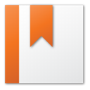 bookmark, red WhiteSmoke icon