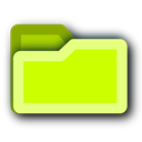 tip, Folder, hint, light, green, Energy Yellow icon