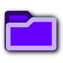deep, purple, Folder BlueViolet icon
