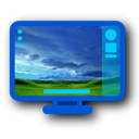 Desktop, deep, Blue Black icon
