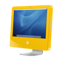 Imac, yellow, Aqua Black icon