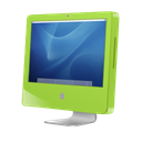 green, Imac, Aqua Black icon