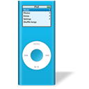 ipod, bleu, nano Black icon
