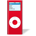 ipod, rouge, sida, nano Black icon