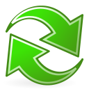 view, Reload, refresh LimeGreen icon