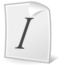 File, italic, Format, document, Text WhiteSmoke icon