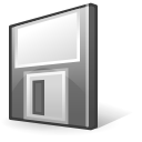 Floppy, save, media Black icon