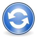 refresh, view, Reload CornflowerBlue icon
