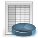 Spreadsheet, office DarkGray icon