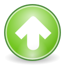 Up, rise, upload, Ascending, increase, Ascend YellowGreen icon