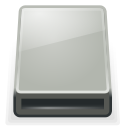 media, drive, Removable Silver icon