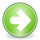 ok, next, yes, Forward, correct, right, Arrow YellowGreen icon