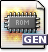 Application, mime, rom, Gnome, Genesis DimGray icon