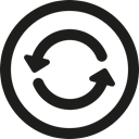 button, updating, interface, Curve Arrows, Circle, Multimedia Option Black icon
