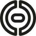 Circular, Links, interface, linked, button Black icon