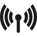internet connection, technology, Wifi Signal, connected, Connections, Wireless Internet Black icon
