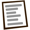document, Back, Arrow, File, Text, Left, previous, prev, Backward LightSlateGray icon