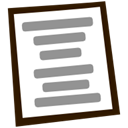 File, Text, Center, document LightSlateGray icon