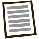 document, Text, Block, File LightSlateGray icon