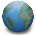 earth, Gnome, globe, planet, world DarkSlateGray icon