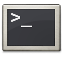 Gnome, Commandline, Prompt, terminal, Shell DarkSlateGray icon