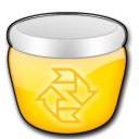 Empty, Trash, Blank, recycle bin, Gnome Gold icon