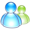 Aqua, Messenger, Msn Black icon