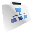 Folder, network WhiteSmoke icon