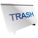 Trash, recycle bin Black icon