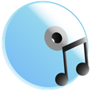 save, Disk, disc, music SkyBlue icon