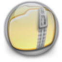 Zip, Folder Khaki icon