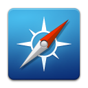 safari, Browser SteelBlue icon