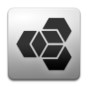 Extension, manager Black icon