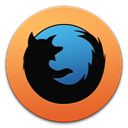 Shaped, Browser, Firefox Black icon
