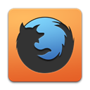 Browser, Firefox Black icon