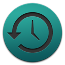 time, Shaped, Apple, history, machine Teal icon