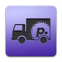 Transmit, purple LightSteelBlue icon